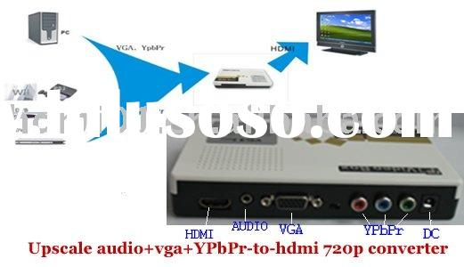 VGA+YPbPr+Audio to HDMI 720P HD Upscaler Converter