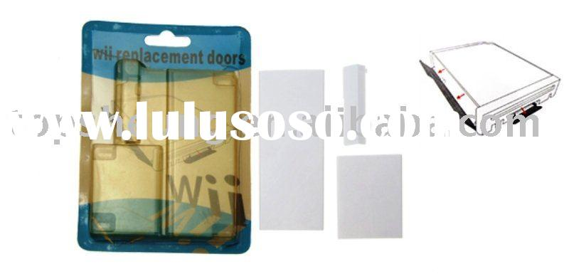 Video Game wii accessories Replacement Door Slot Covers for Wii Console dust cover (sales06 AT topsh