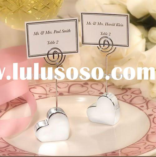 Wedding Favors Silver Plated Heart Design Place Card Holders (Home Decorations)