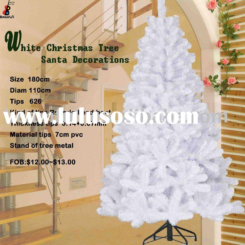 White Christmas Tree Santa Christmas Decorations Christmas Gift