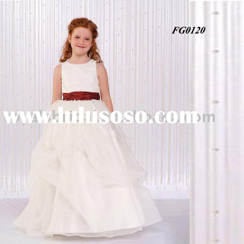 White Flower Girl Dress For Wedding