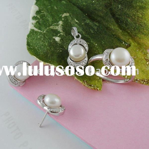 White Pearl jewelry Sets