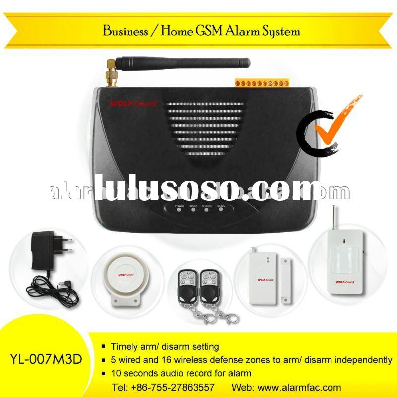 Wireless GSM sms security alarm system With Two-Way Intercom