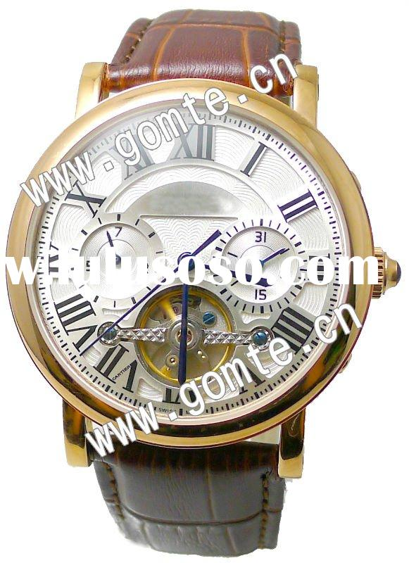 With top quality multifunction stainless steel wrist watches men