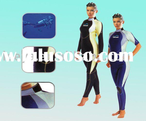 Women Neoprene SBR Diving Wetsuits ws06