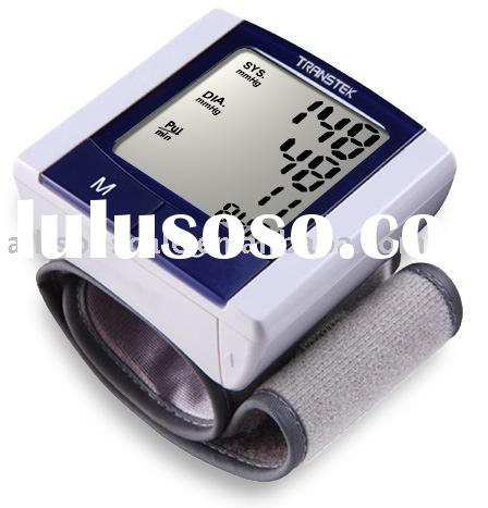 Wrist cuff blood pressure monitor,medical supply