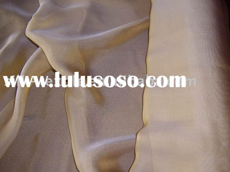 Yarn Dyed Silk Chiffon,two colour tone silk fabric,silk chiffon