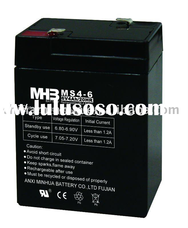(6V4AH,6V4.5AH) lead acid battery,VRLA AGM battery,non spillable battery,rechargeable battery,UPS ba