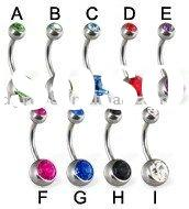 (WS639)Fashion 316L stainless steel navel body piercing jewelry