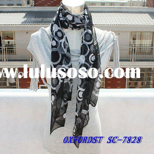 <paypal acceptable>fashion scarf,ladies' spring chiffon scarf ,cool neck wrap(