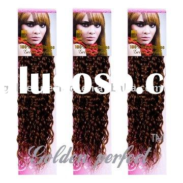 afro curly hair extension weft