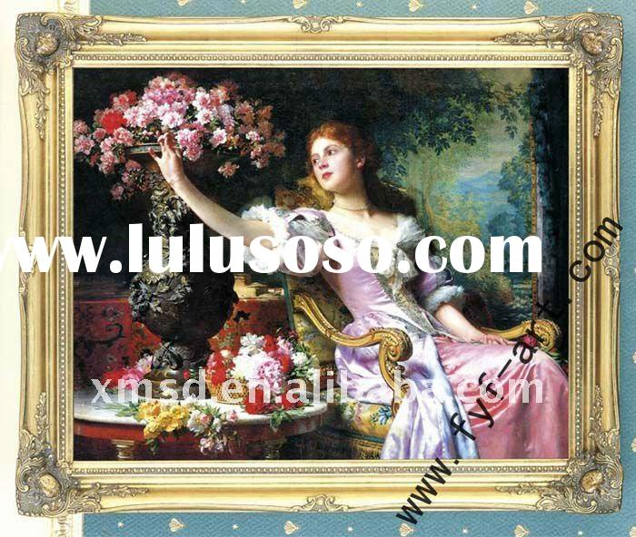 antique gold wood painting frame for sale