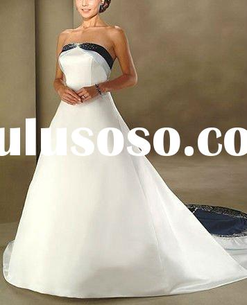 2011 Best Selling Off Shoulder Royal Blue Wedding Dresses