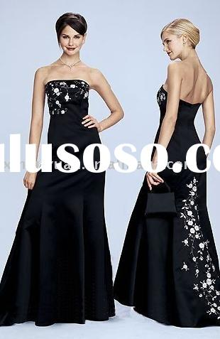 black and white evening gown women party dresses Ed233