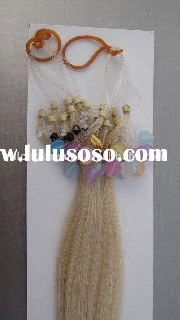 black remy micro ring easy loop hair extension wholesale products