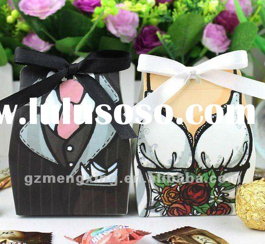 bride and groom candy box for wedding accessories---WB016