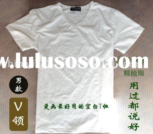 bulk plain v-neck t-shirt