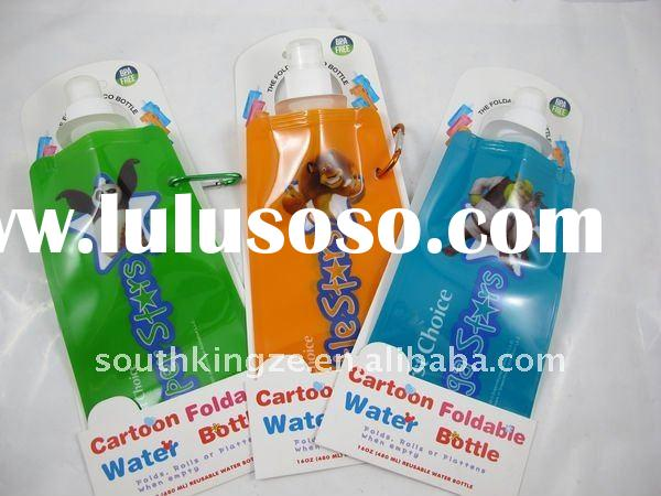 cartoon printing BPA free collapsible water bottles