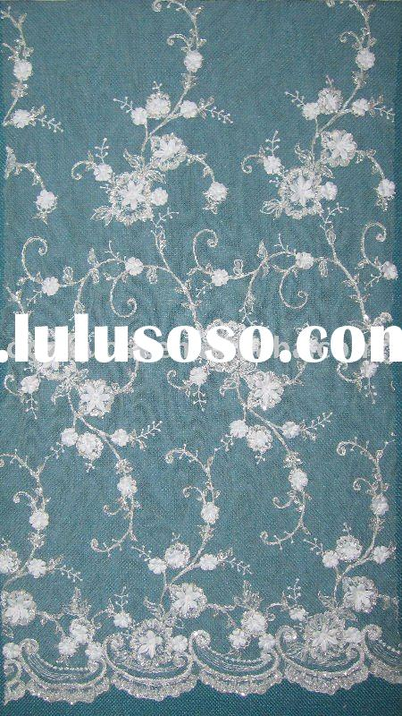charming wedding lace fabric for bridal dress