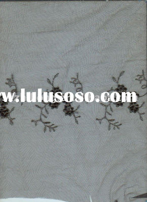 chiness hand embroidery fabric for wedding dress/bridal dress