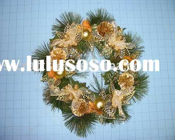 christmas pine straw wreath /wreath decoration /christmas wall hanging wreath