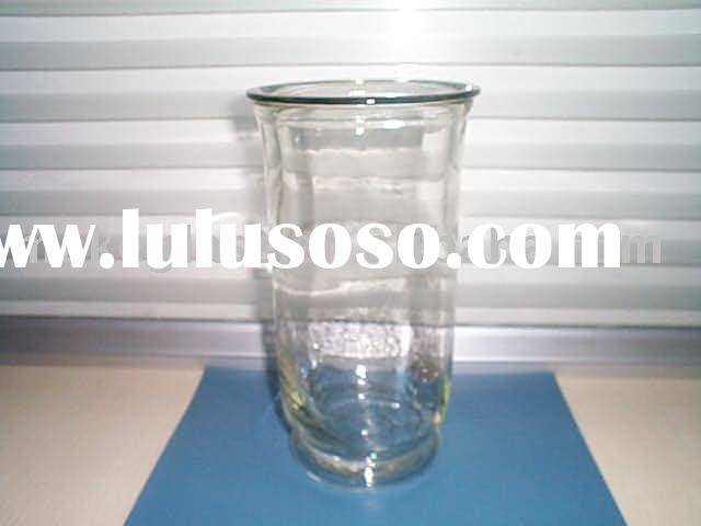 clear glass hurricane lamp,glass candle holder,machine-made glassware