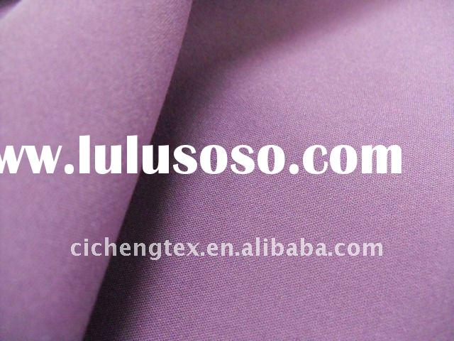 cotton nylon spandex fabric, print, solid dyed