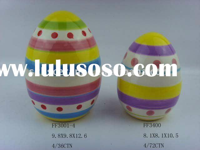 decorated coloring ceramic easter eggs
