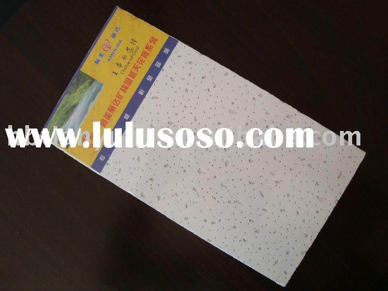 decorative ceiling insulation/mineral fiber ceiling board
