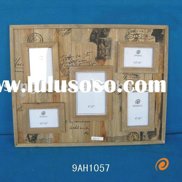 decorative wooden family photo frame with post printing