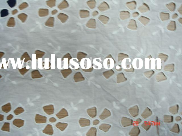 eyelet cotton lace embroidery fabric
