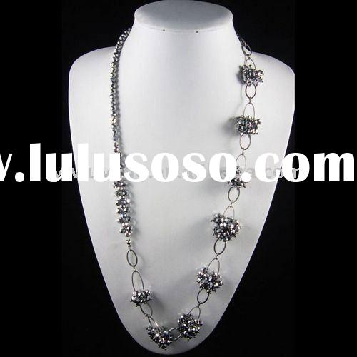 fashion women jewelry long necklace as clothing accessories