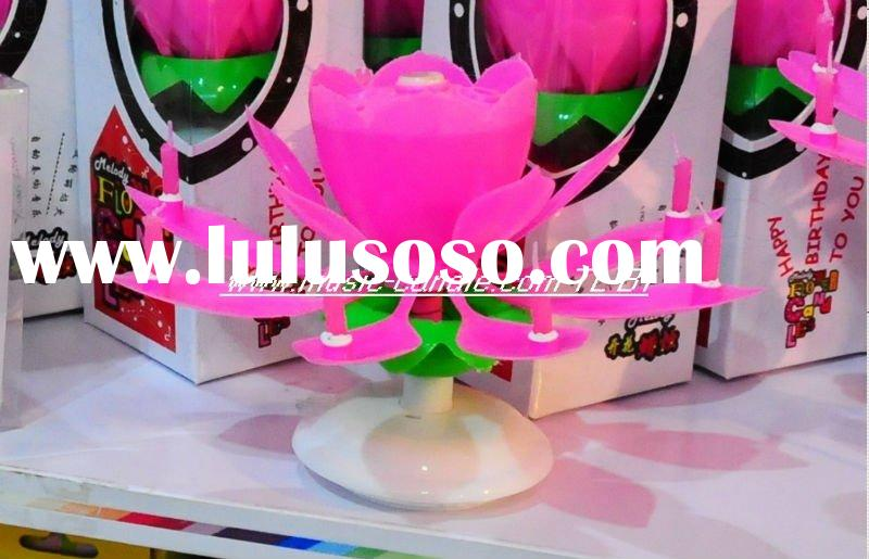 flower music birthday party candle(Hot!!!)