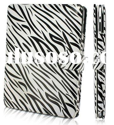 for Apple iPad Leather kickstand zebra case cover Red!
