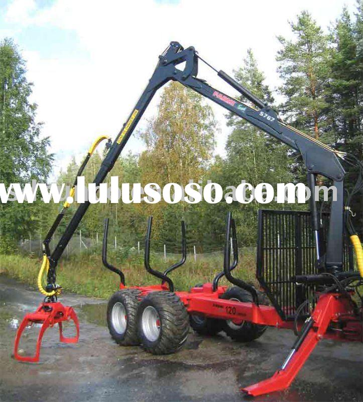 forest log trailer for tractor, timber Log trailer with crane for Tractor,tractor wood trailer,timbe