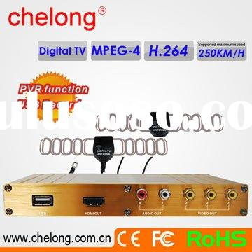 free sample MPEG4/H.264 3 Video Output Car HD satellite receiver