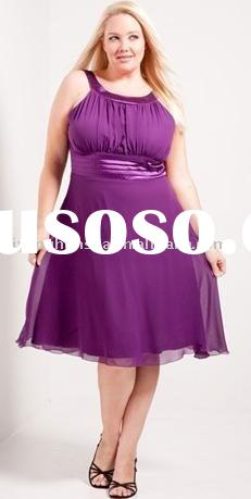 gorgeous knee-length plus size evening dress