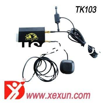 gps vehicle tracker tk 103 -2 with free web based tracking software remote control