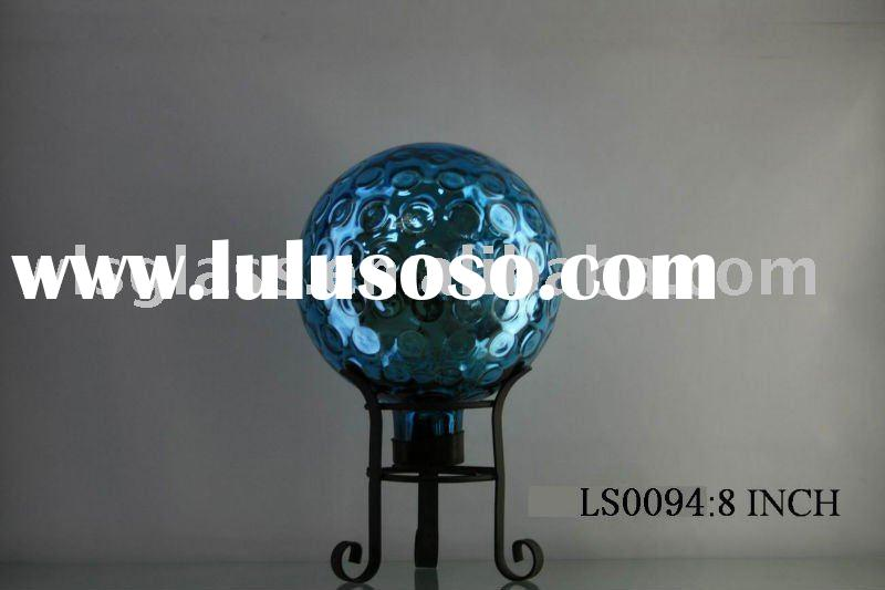 hand blown glass garden ball