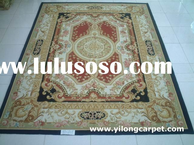 hand knotted french/Chinese wool aubusson carpets/rugs