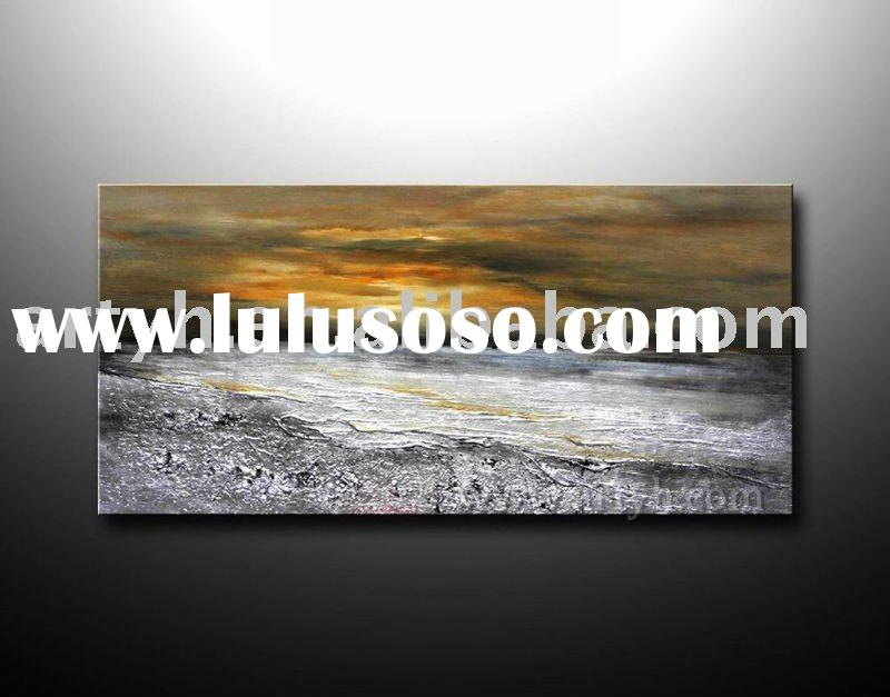 handmade abstract seascape canvas oil painting