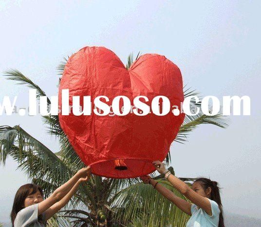 heart shaped sky lantern/Make a wish lantern/paper sky lantern/party lantern/wishing lanterns/Make a