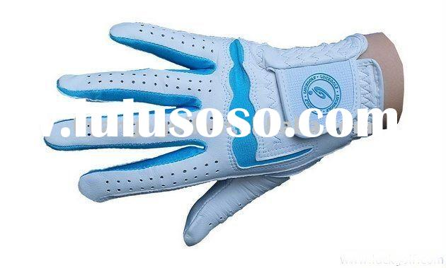 high quality colored Cabretta leather golf glove