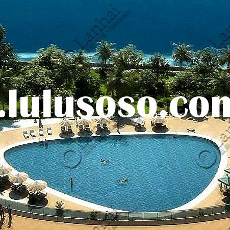 hotel outdoor swimming pool Landscape Architecture 3d rendering
