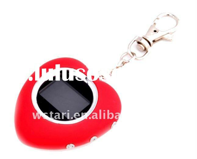 key chain with 1.5 Inch mini Digital Photo Frame and heart style--Christmas gifts