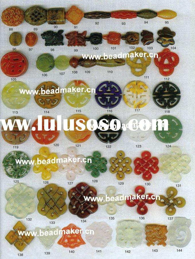 kinds of carved stone bead pendant