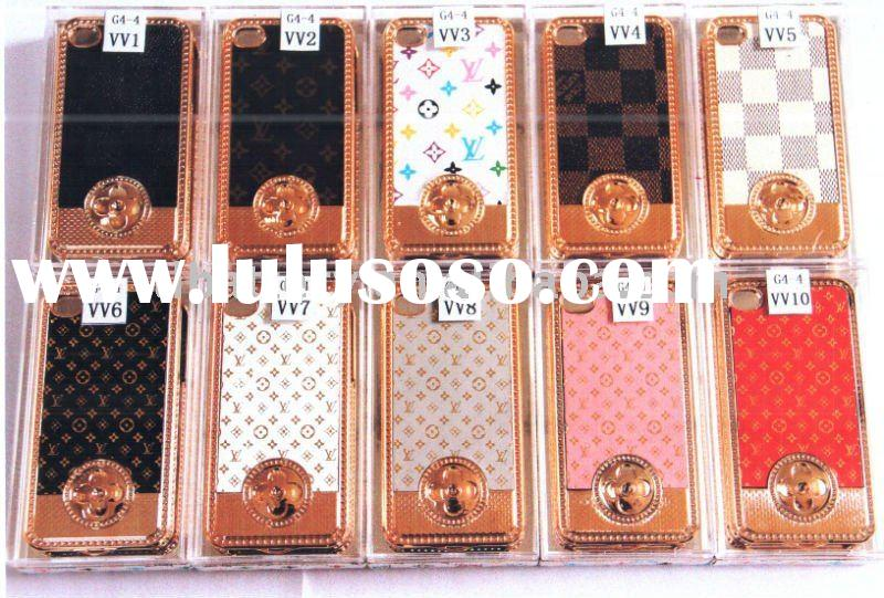 leather mobile phone housing for iphone 4