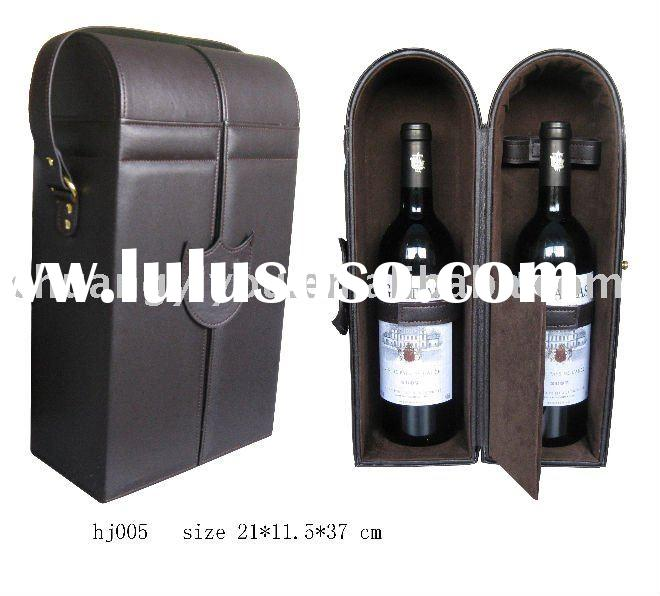 leather wine box,wine box for travel,travel wine box,wine packing