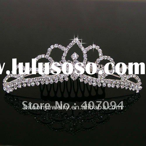 middle size flower girl tiara graceful princess diamond tiara