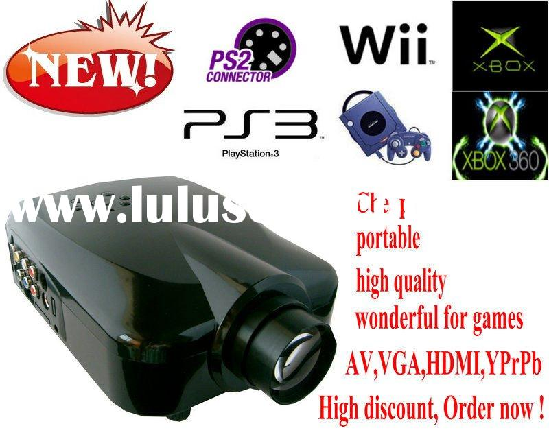 mini market game portable led projector video games Xbox360.PS2.PS3.Wii.PC.DVD.Game cube in